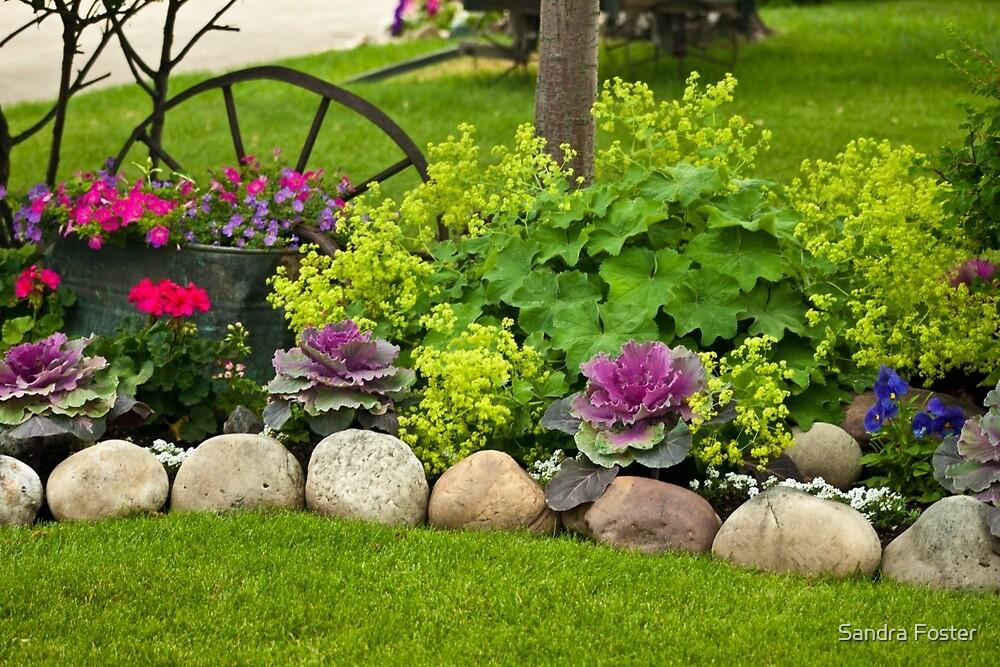 """Welcome Mat"" Garden Scene by Sandra Foster"