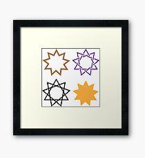 Bahai Star Framed Print