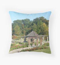 Sunken Gardens of Peace Throw Pillow