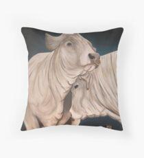 Bulls Throw Pillow
