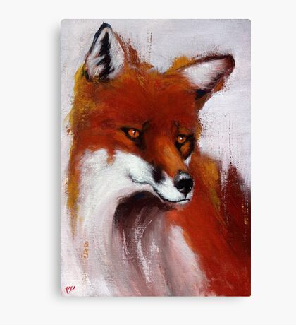 The Watching Fox Canvas Print
