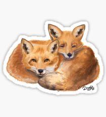 Foxes Sticker
