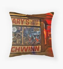 Gary's Cycle Shop Throw Pillow