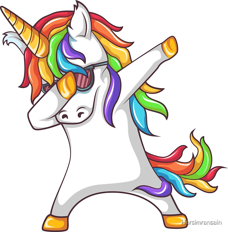 """Dabbing Unicorn "" Stickers by Harsimransain   Redbubble"