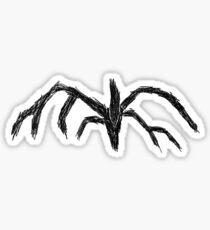 shadow monster stranger things sticker Sticker