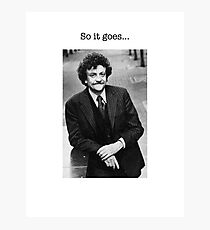 Kurt Vonnegut Photographic Print