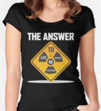 the answer to life the universe and everything, the answer to life Women's Fitted Scoop T-Shirt