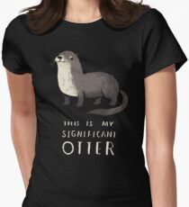 significant otter Women's Fitted T-Shirt