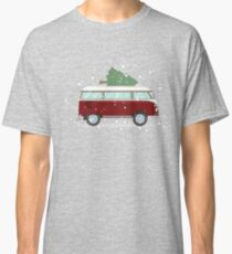 VW Camper van with Christmas Tree Classic T-Shirt