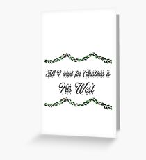 All I want for Christmas is Iris West-Flash Greeting Card