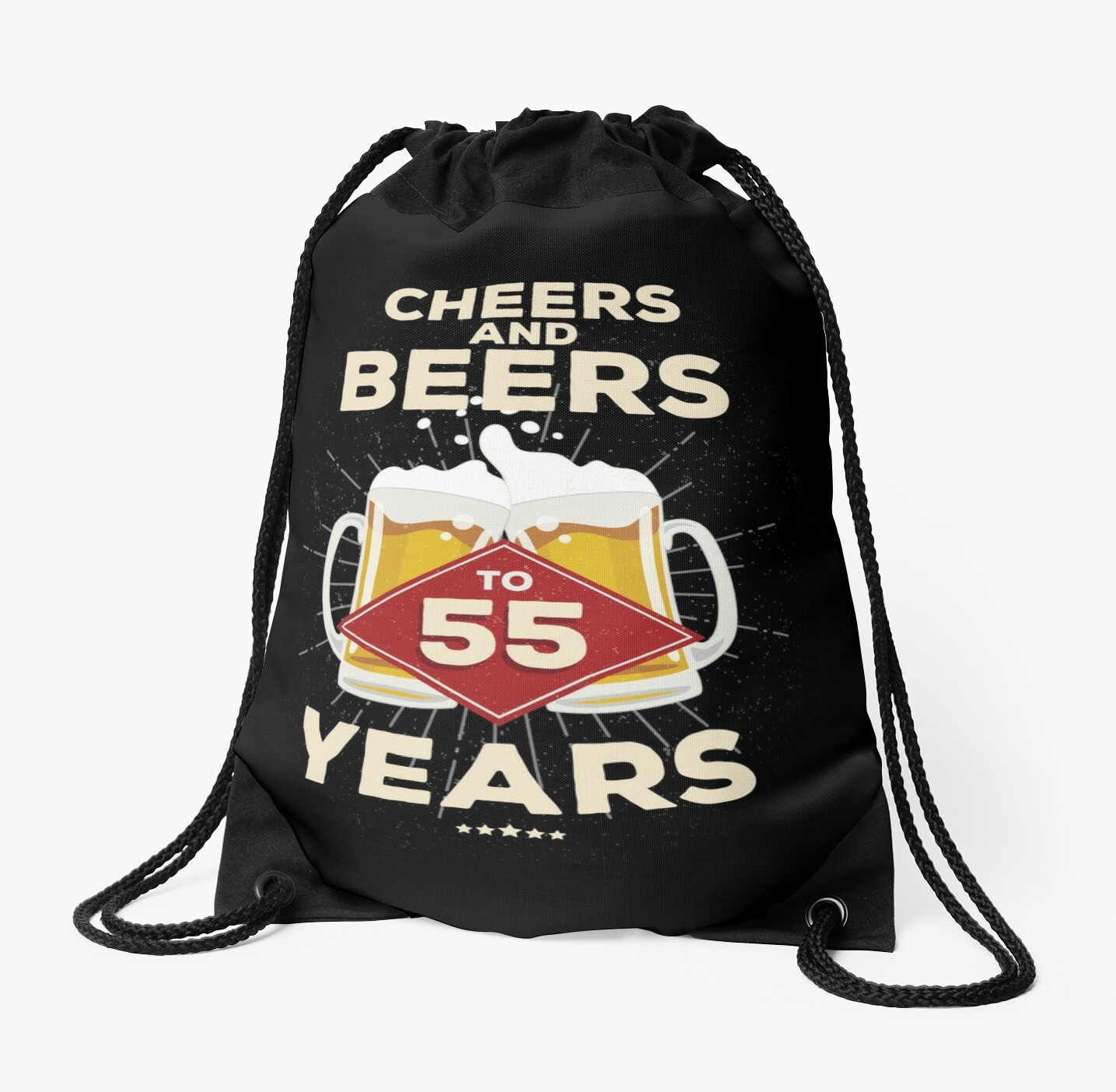55th Birthday Gift Idea Cheers And Beers To 55 Years Quote By Blazesavings