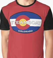 Steamboat Springs Colorado!  State flag design Graphic T-Shirt