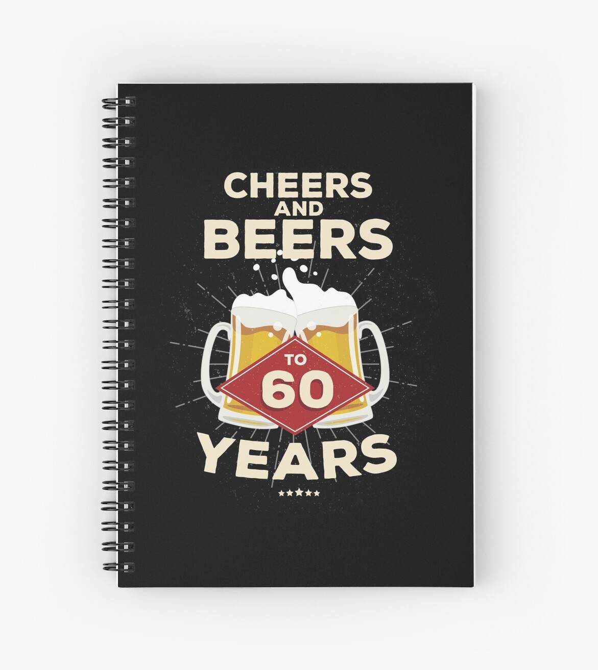60th Birthday Gift Idea Cheers And Beers To 60 Years Quote