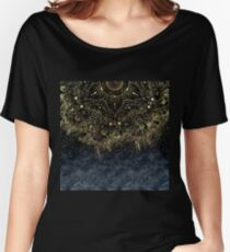 Stylish Gold floral mandala and confetti  Women's Relaxed Fit T-Shirt