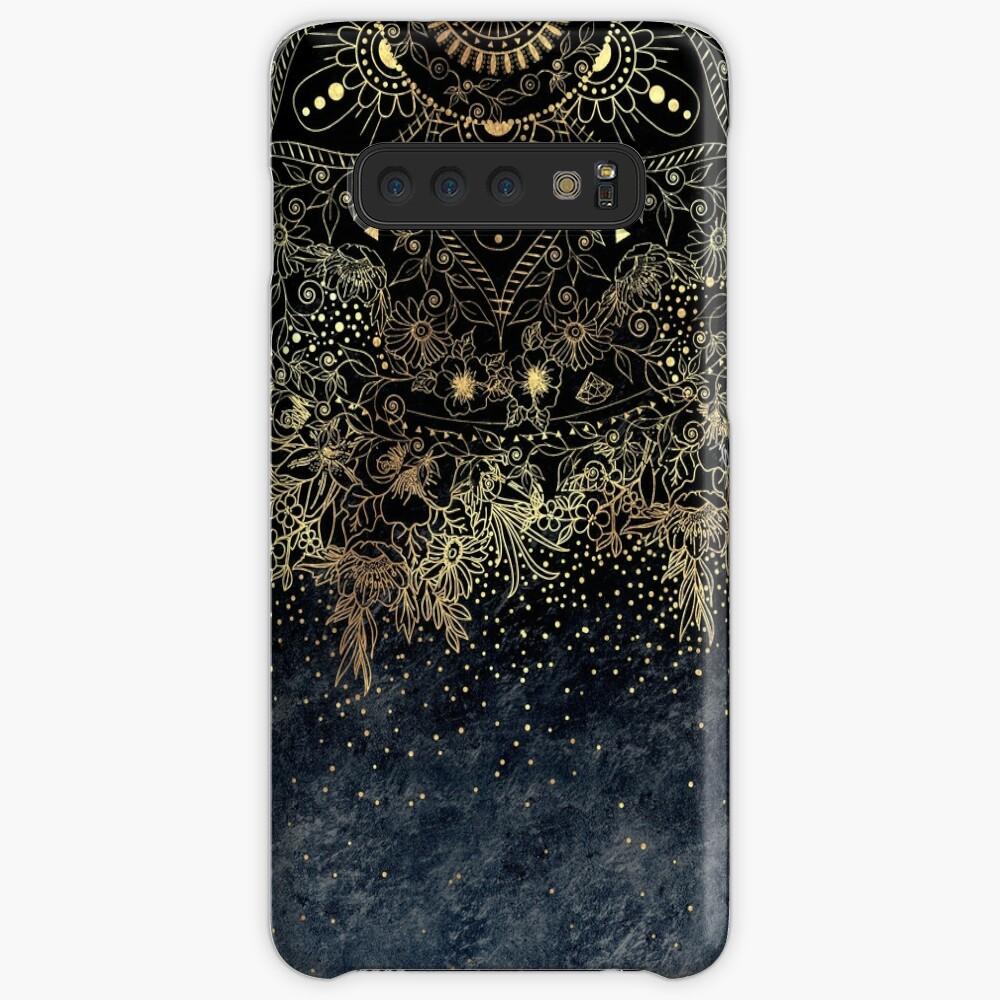 Stylish Gold floral mandala and confetti  Case & Skin for Samsung Galaxy