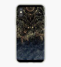 Stilvolles Goldblumenmandala und -Konfettis iPhone-Hülle & Cover