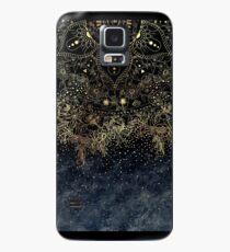 Stilvolles Goldblumenmandala und -Konfettis Hülle & Klebefolie für Samsung Galaxy