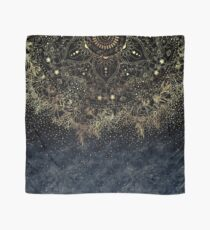 Stylish Gold floral mandala and confetti  Scarf