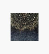 Stylish Gold floral mandala and confetti  Art Board