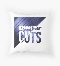 Deeper Cuts Throw Pillow