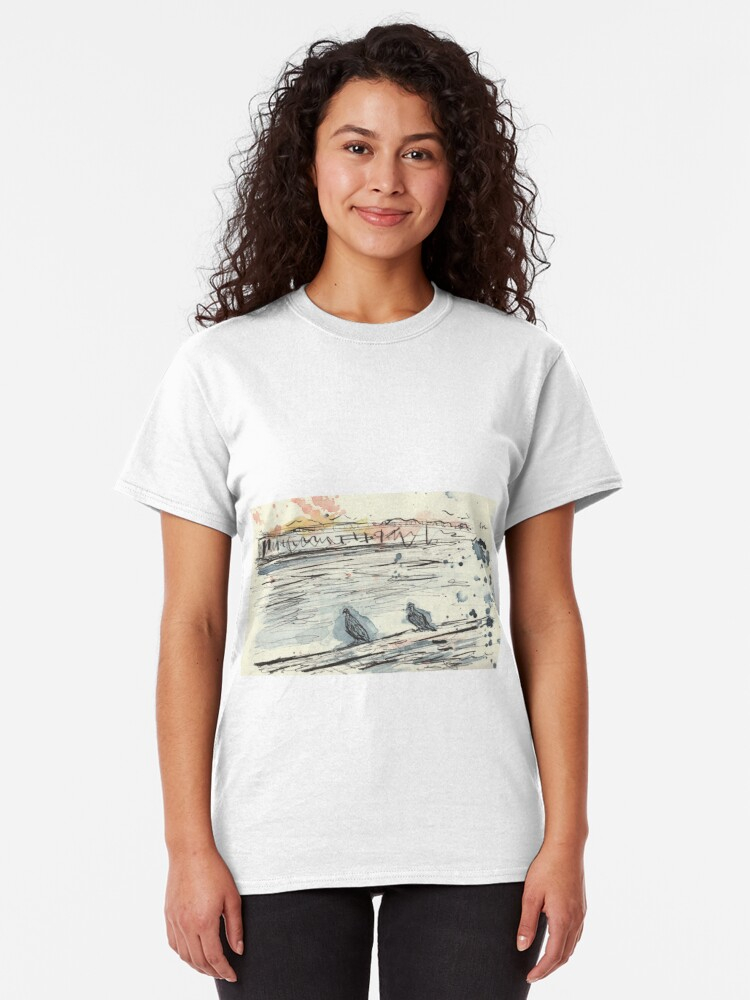 Alternate view of Poetic Brussels: City Pigeons Classic T-Shirt