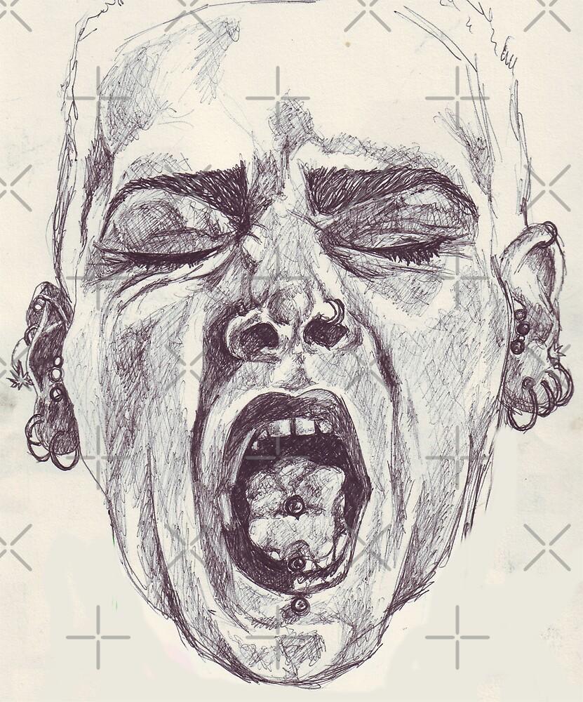 Free Expression Sketch by DreddArt