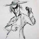 Sketchy Cowboy  by Extreme-Fantasy