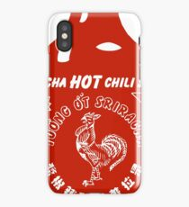 sriracha hot chili roster sauce sticker iPhone Case