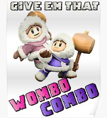 Wombo Combo Ice Climber Smash Bros Poster