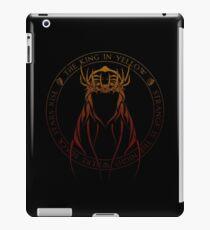 The King in Yellow Sigil (hellfire) iPad Case/Skin