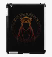 The King in Yellow Sigil (hellfire) iPad Case/Skin