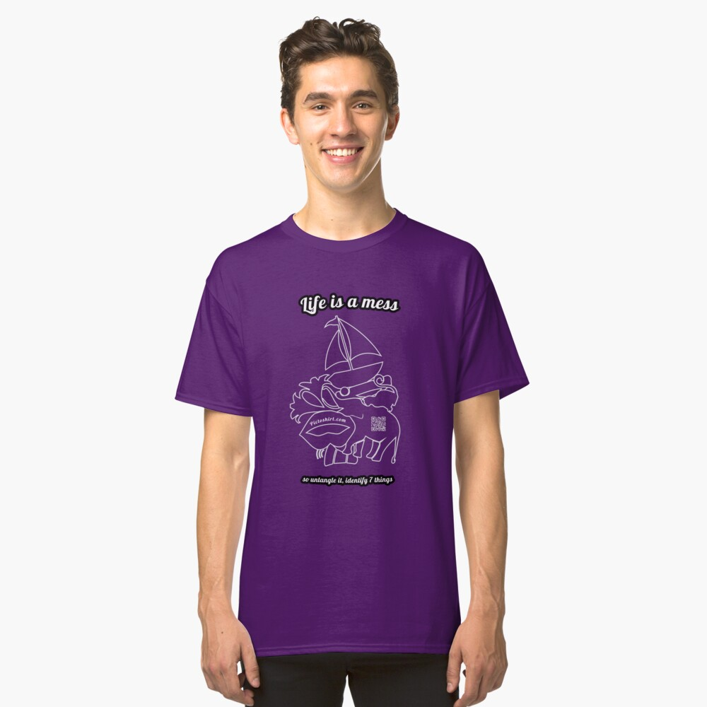 Guess the shapes game, family and friends t-shirt Classic T-Shirt