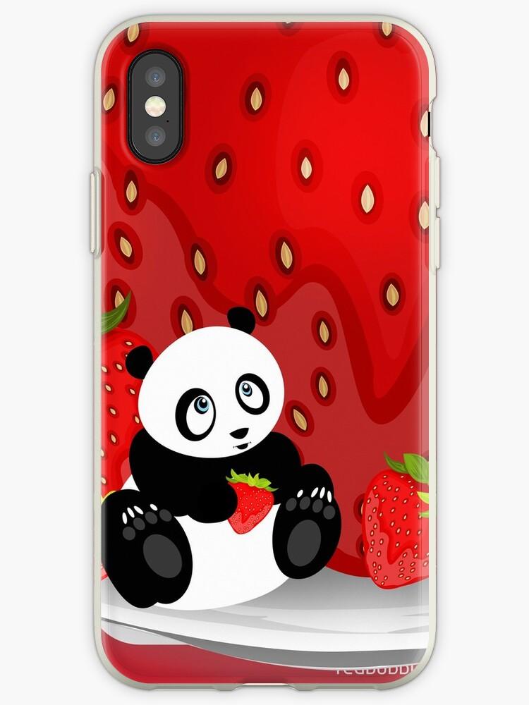 Panda & Strawberries 2 by Adam Santana