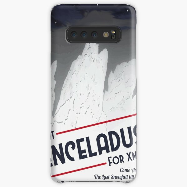 Enceladus Space Poster Samsung Galaxy Snap Case