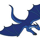 Flying Blue Dragon by mattbas