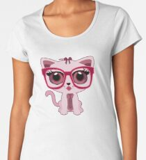 Kitten Nerd Women's Premium T-Shirt