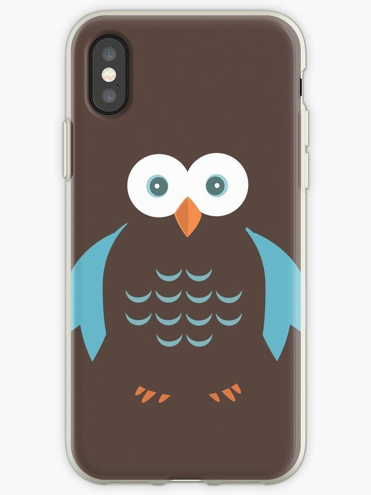 Brown & Blue Owl by Adam Santana