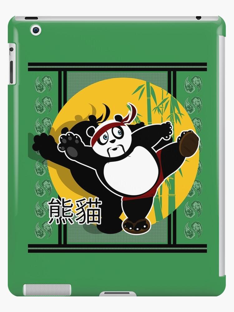 Martial Arts Panda - Green by Adam Santana
