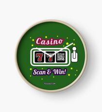 Casino game, family and friends t-shirt Clock