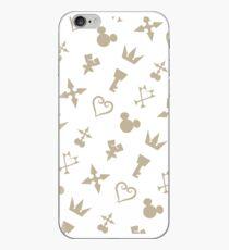 Vinilo o funda para iPhone Símbolos de corazones de Golden Kingdom