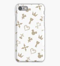 Golden Kingdom Hearts Symbols iPhone Case/Skin