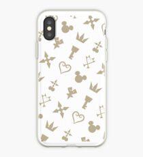 Golden Kingdom Hearts Symbols iPhone Case