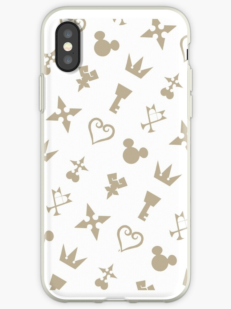 Golden Kingdom Hearts Symbols Iphone Cases Covers By Takandre