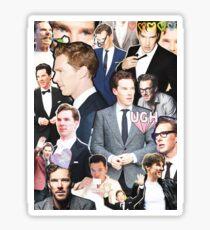 benedict cumberbatch collage Sticker