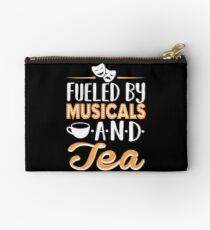 Fueled by Musicals and Tea Studio Pouch