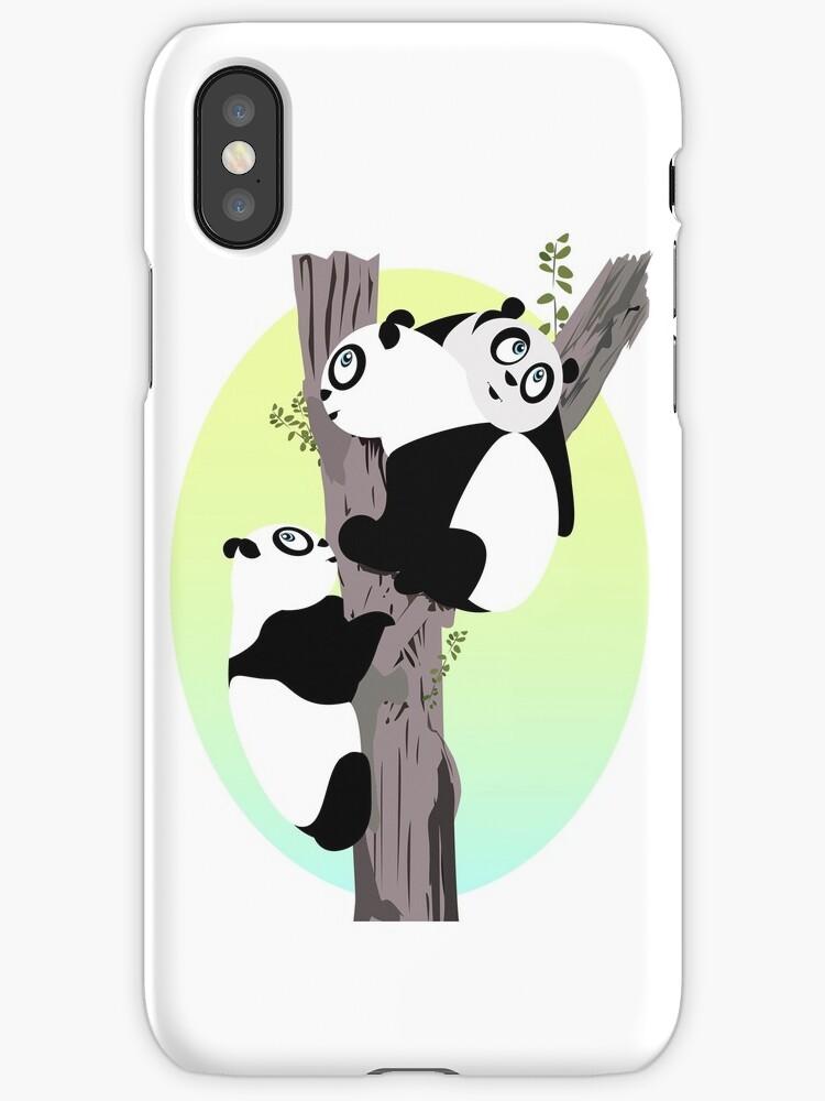 Pandas in a tree by Adam Santana