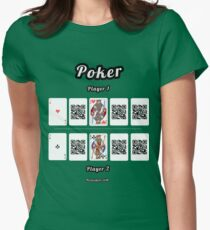 Interactive poker, family and friends card game t-shirt Women's Fitted T-Shirt