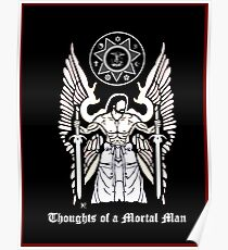 "The cover of my book, ""Thoughts of a Mortal Man"" Poster"
