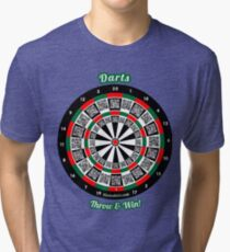 Interactive darts, family and friends game t-shirt Tri-blend T-Shirt