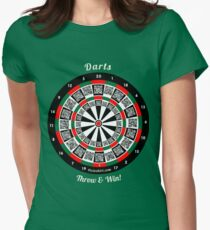 Interactive darts, family and friends game t-shirt Women's Fitted T-Shirt